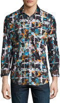 Robert Graham Tropic Thunder Long-Sleeve Sport Shirt, Multi