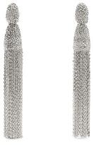 Oscar de la Renta Chain tassel-drop clip-on earrings