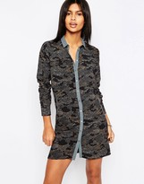 Pepe Jeans Pepe Jean Ilford Camo Print Shirt Dress