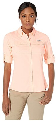 Columbia Lo Dragtm Long Sleeve Shirt (Tiki Pink) Women's Long Sleeve Button Up