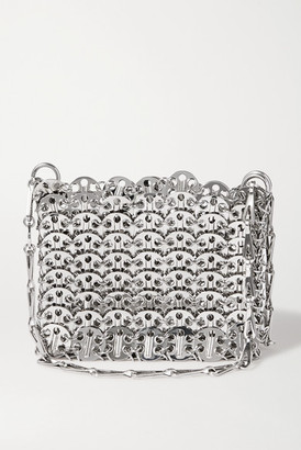 Paco Rabanne Nano 1969 Paillette-embellished Chainmail Shoulder Bag - Silver