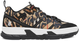 Burberry leopard print Union sneakers