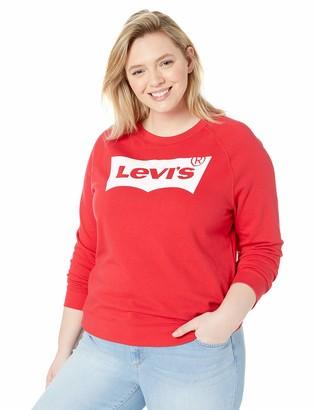 Levi's Women's Plus-Size Relaxed Graphic Sweatshirt