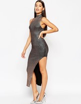 Asos NIGHT Metallic Rib Maxi Dress