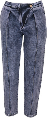 See by Chloe Stonewashed Cropped Jeans