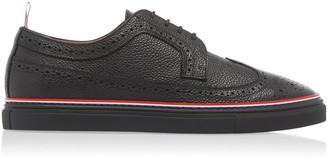 Thom Browne Pebble-Grain Leather Brogue Sneakers