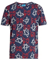 Gucci Guccighost-print Crew-neck T-shirt