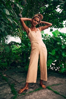 Moon River Button Front Overalls