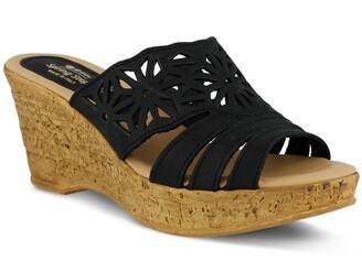Spring Step Dora Platform Wedge Slide Sandal