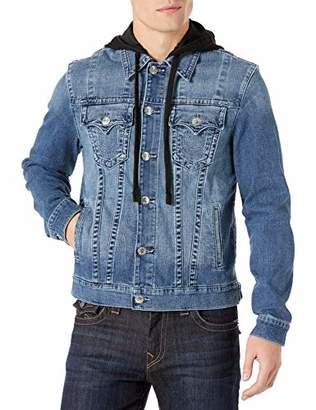 True Religion Men's Trucker Jacket SN W Hood