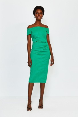 Karen Millen Italian Structured Jersey Bardot Dress