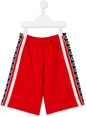 Gucci Kids Logo Stripe Track Shorts