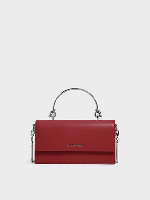 Charles & Keith Demi Metal Top Handle Long Wallet