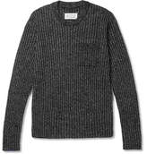 Maison Margiela Slim-Fit Contrast-Tipped Ribbed Wool-Blend Sweater