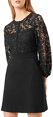 French Connection Shema Lace A-Line Mini Dress