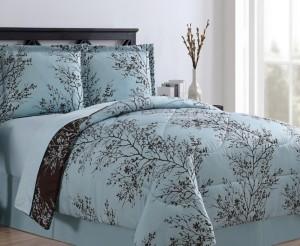 VCNY Home Leaf Bed in a Bag 8 Piece Comforter Set, King Bedding