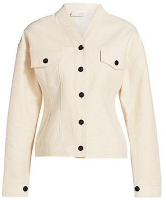 LVIR Pleasant Utility Collarless Short Cotton Jacket