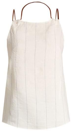 Esteban Cortazar Draped Neck Striped Top - Womens - Cream
