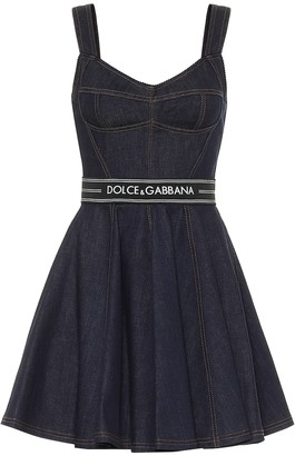 Dolce & Gabbana Stretch-denim mini dress