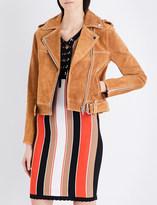Claudie Pierlot Coeur suede jacket