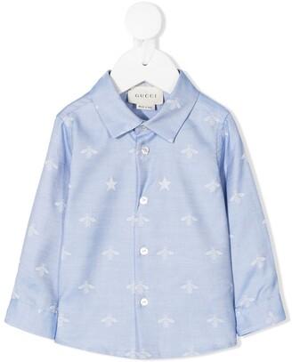 Gucci Kids Bee & Star Print Shirt