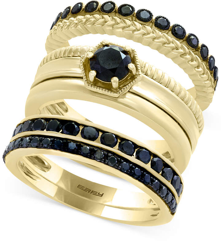 Effy Caviar by Diamond 3-Pc. Ring Set in 14k Gold