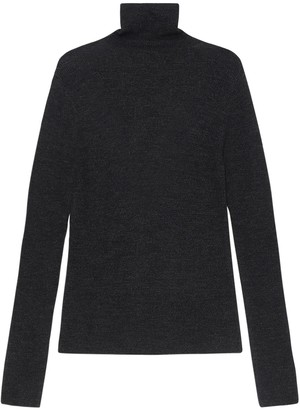 Ganni Recycled Wool Knit Turtleneck Sweater