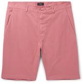 Theory Zaine Slim-fit Stretch-cotton Shorts - Pink