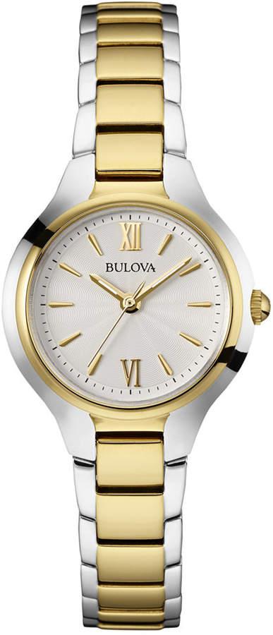 Bulova Women Two-Tone Stainless Steel Bracelet Watch 28mm 98L217