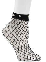 Steve Madden Fishnet Pearl Ankle Socks - Women's