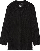 Maison Margiela Oversized Alpaca-blend Sweater - Black