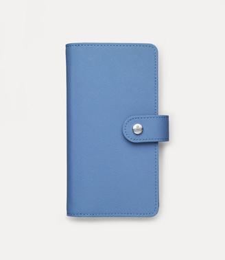 Vivienne Westwood Victoria Double Flap Iphone Wallet Light Blue - Xs Max