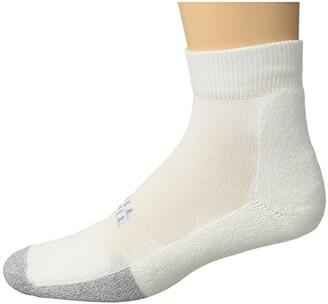 Thorlos Lite Tennis Mini Crew Single Pair (White) Crew Cut Socks Shoes