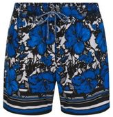 HUGO BOSS Quick Dry Patterned Swim Trunks Piranha S Open Blue