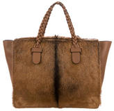 Valentino Ponyhair & Leather To Be Cool Tote