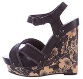 Bottega Veneta Platform Wedge Sandals