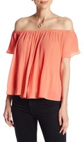 LoveRiche Pleated Off-the-Shoulder Shirt