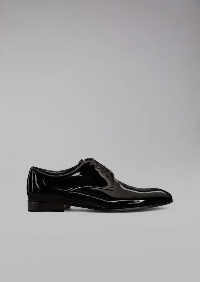 Giorgio Armani Patent Leather Lace-Ups