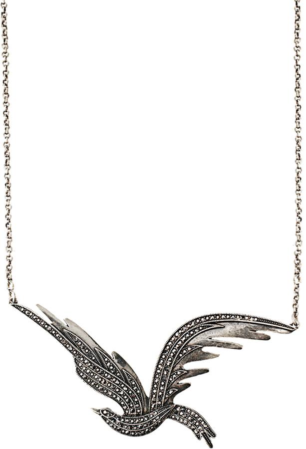 Pilgrim Statement Bird Necklace