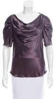 Adam Silk Pleated Top