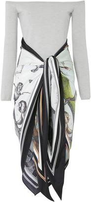 Burberry Monkey print scarf bodysuit