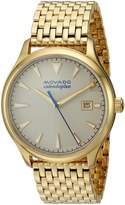 Movado Men's Swiss Quartz and Stainless-Steel-Plated Casual Watch, Color:Gold-Toned (Model: 3650013)
