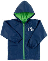 Princess Linens Navy & Green Monogram Rain Coat - Boys