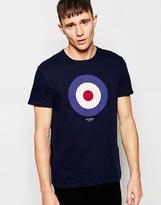 Ben Sherman T-shirt With Target Print - Blue