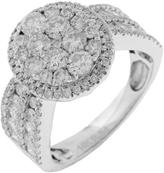 Diamante 2 CT Diamond 14K Gold Wide Band Engagement Ring by Royal Jewelry