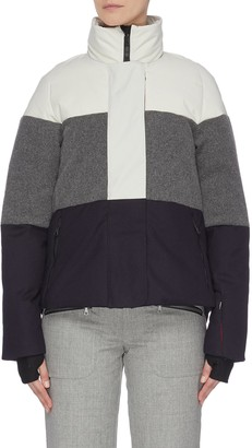 Erin Snow 'Lola' colourblock panelled high neck performance jacket