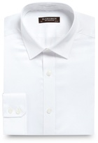 St George By Duffer Big And Tall White Slim Fit Plain Sateen Shirt