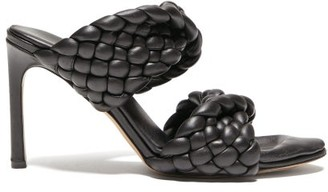 Bottega Veneta Padded Intrecciato-leather Mules - Black