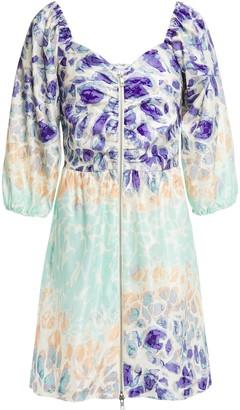 Hofmann Copenhagen Ruched Cotton And Silk-blend Satin Mini Dress