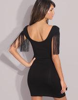 ASOS Fringed Sleeve Bodycon Dress